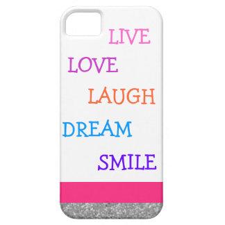 Étui iPhone 5 Sourire vivant de rêve de rire d'amour