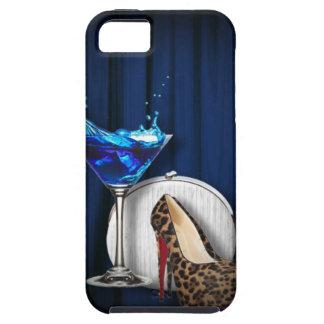 Étui iPhone 5 stilletos de fille de cocktail de martini de