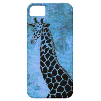 Étui iPhone 5 Vieille girafe bleue II - cas de l'iPhone 5/5S