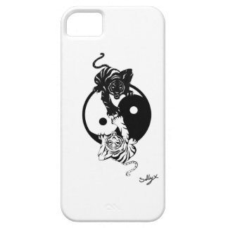 Étui iPhone 5 Ying yang tiger