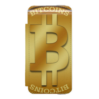 "étui iPhone ""Bitcoins"" Coque-portefeuille iPhone 5 Incipio Watson™"