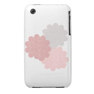 étui iPhone pivoines roses et grises fond blanc Coques Case-Mate iPhone 3