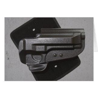 Étui noir d'arme à feu/arme à feu carte de vœux