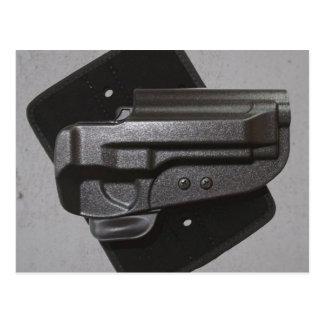 Étui noir d'arme à feu/arme à feu carte postale