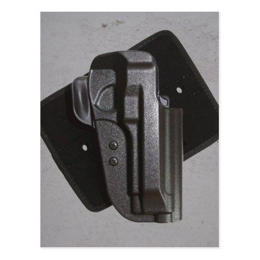 Étui noir d'arme à feu/arme à feu cartes postales