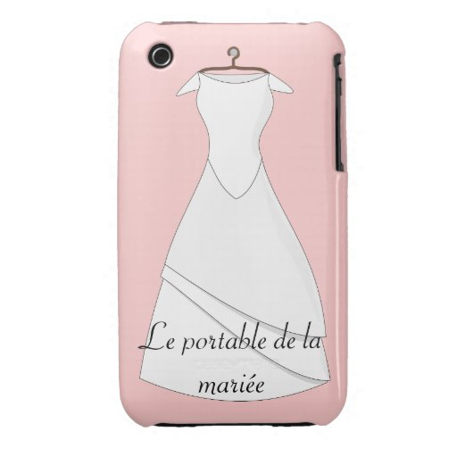 Etui portable de la mariée blanc, coque iphone3 coque Case-Mate iPhone 3