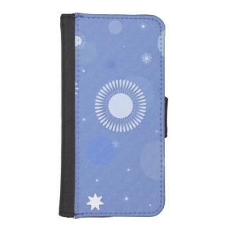 Étui portefeuille pour iphone 5/5s, bleu coque avec portefeuille pour iPhone 5