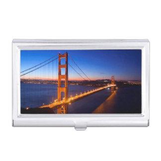 Étui Pour Cartes De Visite Aube au-dessus de pont de San Francisco et de