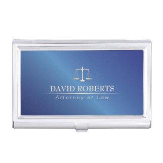 Étui Pour Cartes De Visite Avocat bleu en métal d'avocat élégant