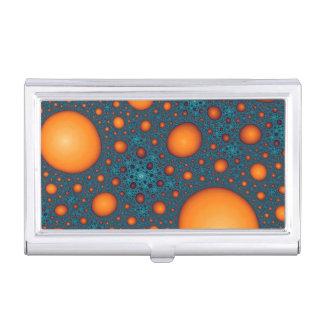 Étui Pour Cartes De Visite Bulles oranges. Modèle abstrait