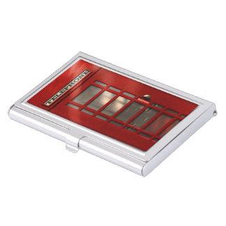 Étui Pour Cartes De Visite Cabine téléphonique rouge britannique vintage