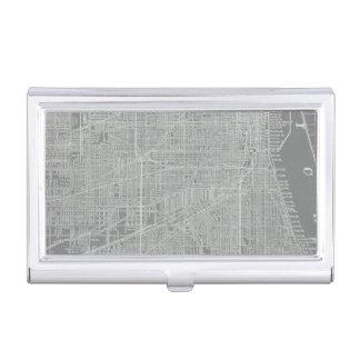 Étui Pour Cartes De Visite Croquis de carte de ville de Chicago