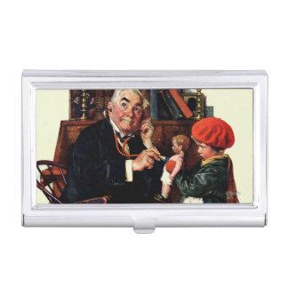 Étui Pour Cartes De Visite Docteur et la poupée