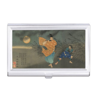 Étui Pour Cartes De Visite Fujiwara aucun Yasumasa joue la cannelure par