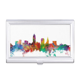 Étui Pour Cartes De Visite Horizon de Cleveland Ohio