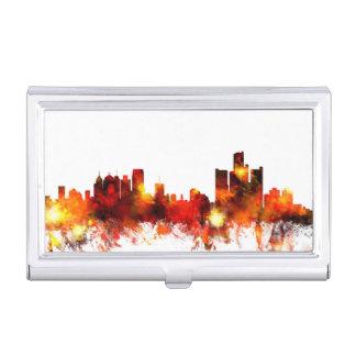 Étui Pour Cartes De Visite Horizon de Detroit Michigan