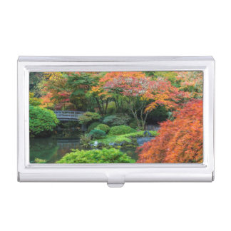 Étui Pour Cartes De Visite Jardins japonais en automne à Portland, Orégon 3