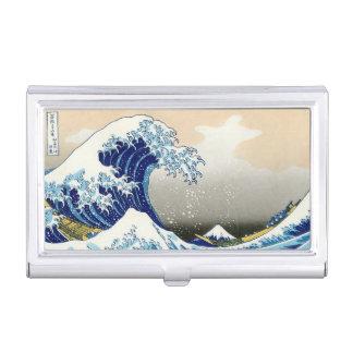 Étui Pour Cartes De Visite La grande vague de l'art de Kanagawa Hokusai