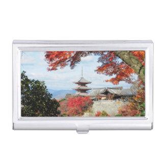 Étui Pour Cartes De Visite Le Japon, Kyoto. Temple de Kiyomizu dans la