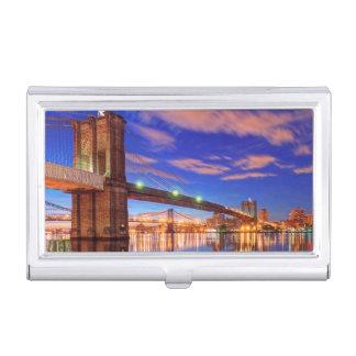 Étui Pour Cartes De Visite L'East River, pont de Brooklyn, Manhattan