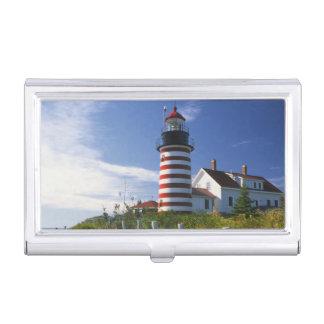 Étui Pour Cartes De Visite Les Etats-Unis, Maine, Lubec. Phare principal