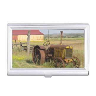 Étui Pour Cartes De Visite Les Etats-Unis, Orégon, Shaniko. Tracteur vintage