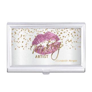 Étui Pour Cartes De Visite Lèvres de scintillement et confettis tellement