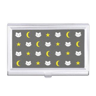 Étui Pour Cartes De Visite Lune de chat et porte-cartes de carte de visite