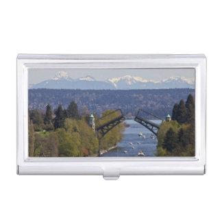 Étui Pour Cartes De Visite Montagnes de pont et de cascade de Montlake