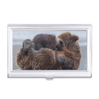Étui Pour Cartes De Visite Ours de Brown et petits animaux 2