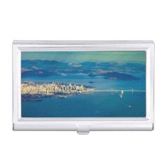 Étui Pour Cartes De Visite Photographie aérienne de la Baie de San Franciso