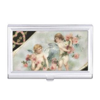 Étui Pour Cartes De Visite Porte-cartes de carte de visite vintage d'anges de