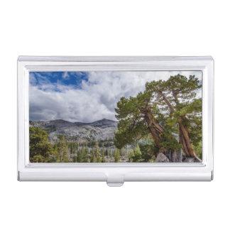 Étui Pour Cartes De Visite Sierra genévrier et arbres d'arbre