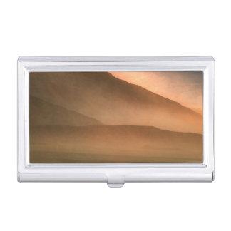 Étui Pour Cartes De Visite Tempête de sable aux dunes de sable de mesquite,