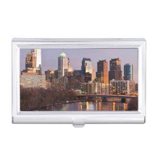 Étui Pour Cartes De Visite Vue panoramique de nuit à Philadelphie