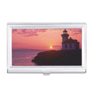 Étui Pour Cartes De Visite WA, île de San Juan, four à chaux Lighthouse,