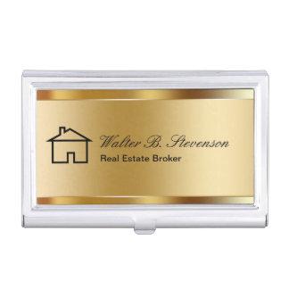 Étuis de cartes chics d'entreprise immobilière étuis pour cartes de visite