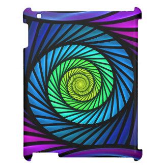 Étuis iPad Cas intuitif de l'iPad 2-3-4 de fractale abstraite