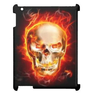 Étuis iPad Crâne en métal sur le feu