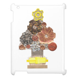 Étuis iPad Dos de Je-Protection d'arbre de Noël de Steampunk