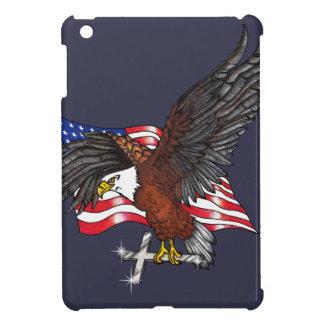 Étuis iPad Mini Américain Eagle avec la croix