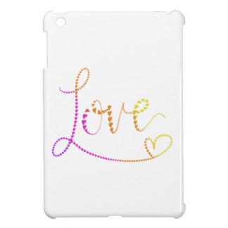 Étuis iPad Mini Amour en lettres de coeurs de main