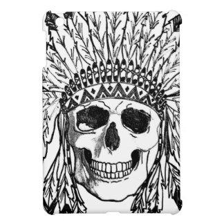 Étuis iPad Mini Art indigène de visage de crâne