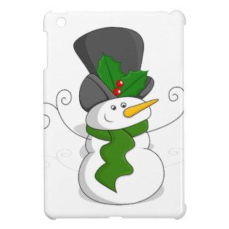 Étuis iPad Mini Bande dessinée de fête de bonhomme de neige de
