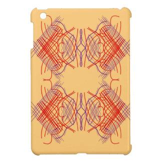 Étuis iPad Mini Beige rouge exotique d'éléments de conception