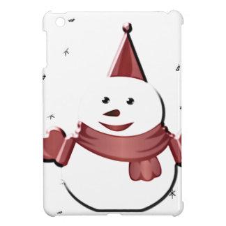 Étuis iPad Mini bonhomme de neige sous le gui