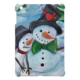 Étuis iPad Mini Bonhommes de neige de visite cardinaux