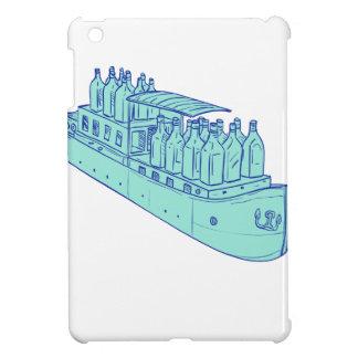 Étuis iPad Mini Bouteilles de genièvre sur le dessin de bateau de