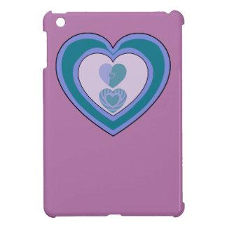 Étuis iPad Mini Caisse pourpre d'Apple Ipad de coeurs de cool de