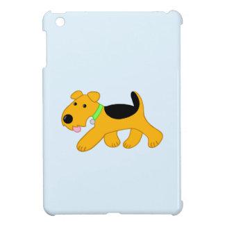 Étuis iPad Mini Cas d'iPad de chien de trot Airedale de Kawaii